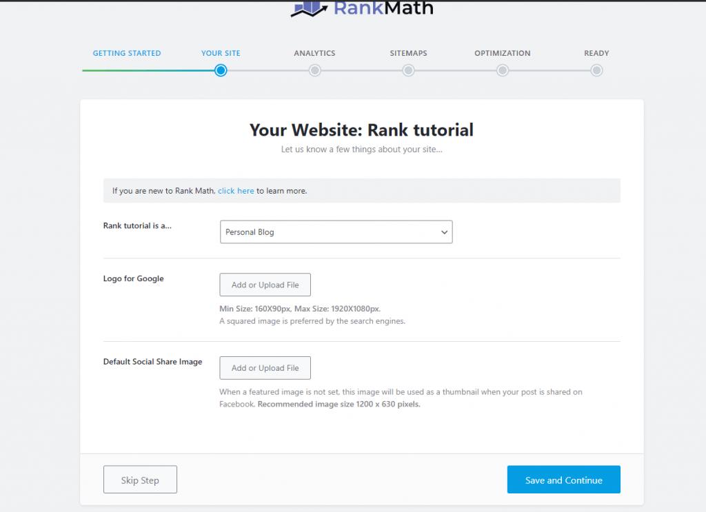 Sivuston asetukset