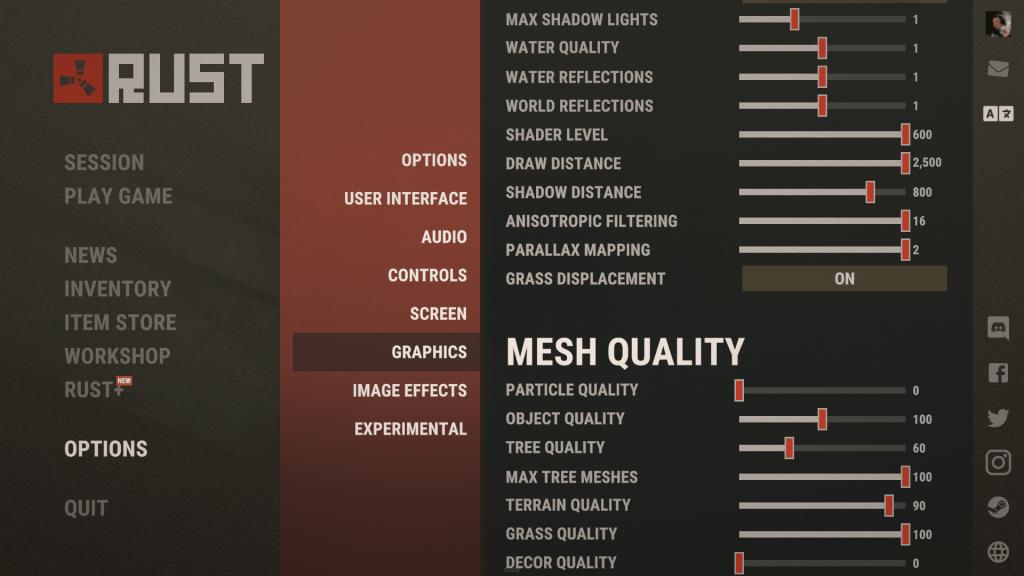 Rust grafiikka asetukset osa 2